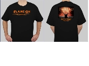 Ignited Flame On T-Shirt (Orange)